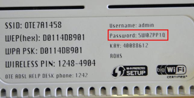 κωδικός router password 0001
