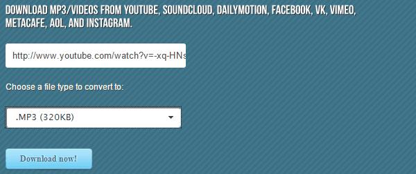 κατέβασμα τραγουδιών από YouTube σε Mp3 (320Kbps) 01