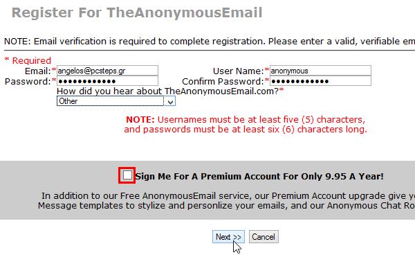 αποστολή email ανώνυμα - οι καλύτερες δωρεάν υπηρεσίες 05