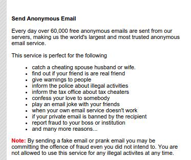 αποστολή email ανώνυμα - οι καλύτερες δωρεάν υπηρεσίες 18