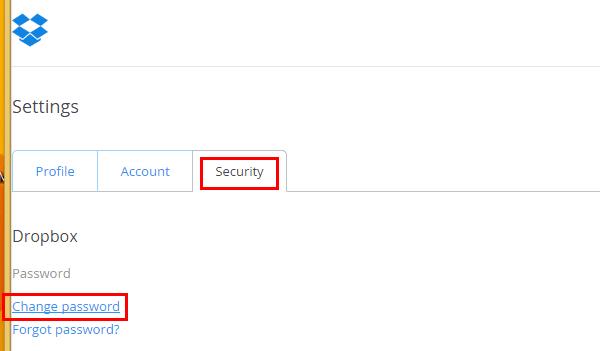 αλλαγή κωδικού dropbox και 2 step verification 04