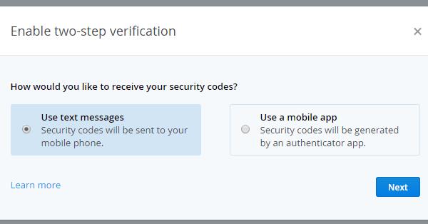 αλλαγή κωδικού dropbox και 2 step verification 08