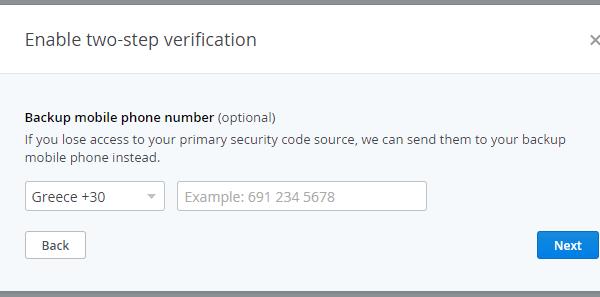 αλλαγή κωδικού dropbox και 2 step verification 11