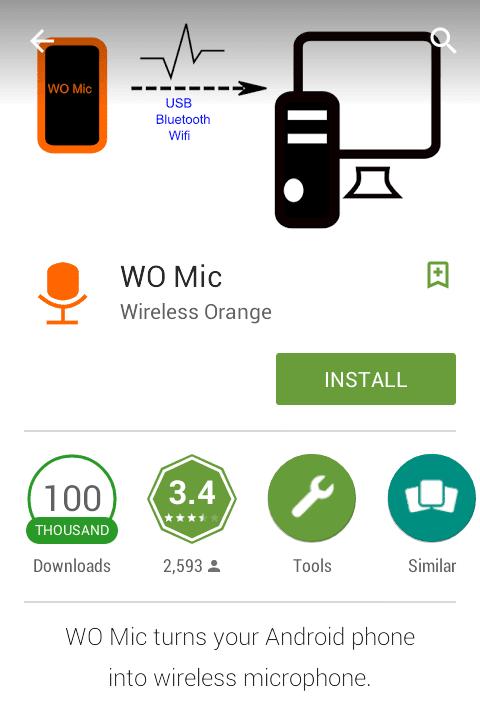 μικρόφωνο Υπολογιστή Δωρεάν μέσω Android Phone 02