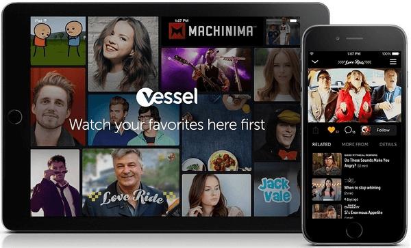 Vessel - Το συνδρομητικό YouTube, δωρεάν για 1 xρόνο
