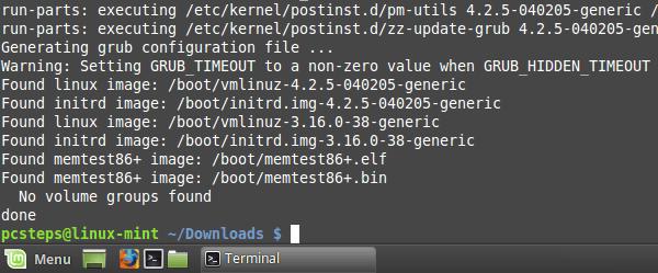 Αναβάθμιση Kernel 4.2.5 σε Linux Mint - Ubuntu 09
