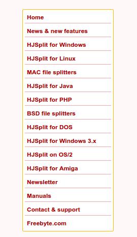 διαχωρισμός αρχείου και Συνένωση με το HJSplit 01