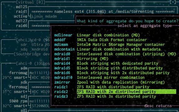 Software RAID, από RAID 0 μέχρι RAID 5
