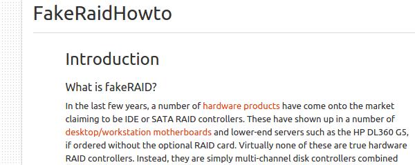 Τι σημαίνει FakeRAID