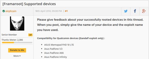 root σε Android κινητό - tablet με το Framaroot 01