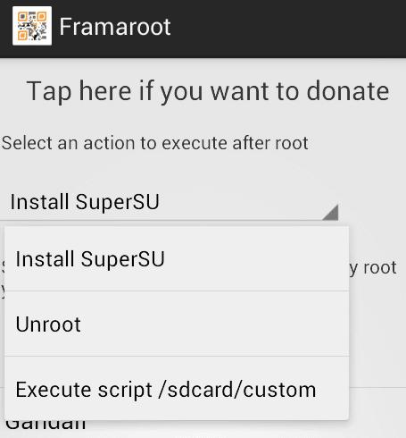 root σε Android κινητό - tablet με το Framaroot 10