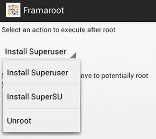 root σε Android κινητό - tablet με το Framaroot 11