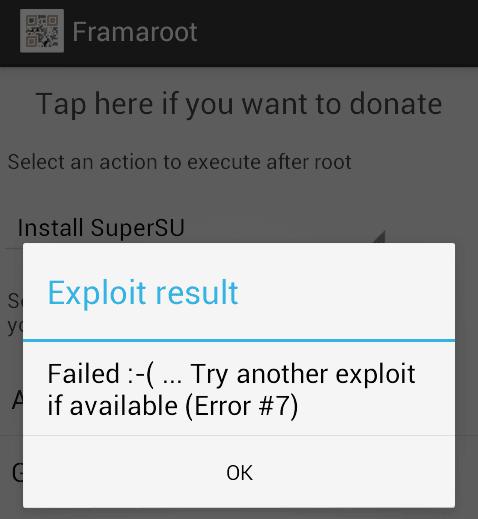 root σε Android κινητό - tablet με το Framaroot 13