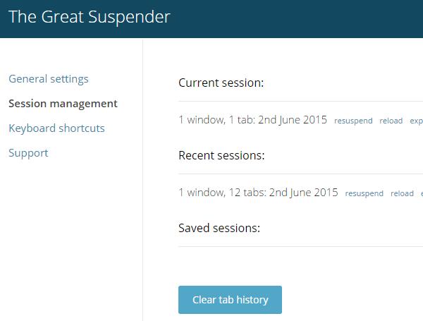 Ελαφρύς Chrome λιγότερη κατανάλωση RAM με το The Great Suspender 14