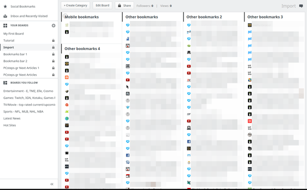 Οργάνωση Σελιδοδεικτών - Bookmarks σε Chrome και Firefox 11
