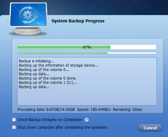 Πλήρες Windows Backup Image με το AOMEI Backupper 13