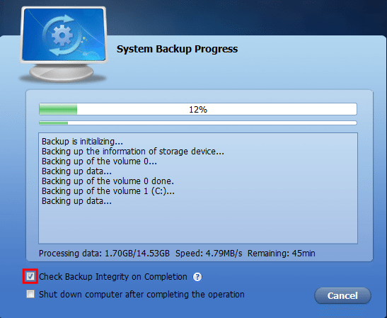 Πλήρες Windows Backup Image με το AOMEI Backupper 14
