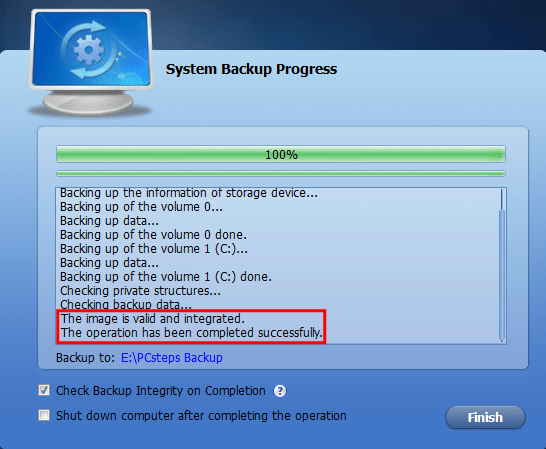 Πλήρες Windows Backup Image με το AOMEI Backupper 15