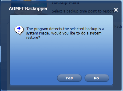 Πλήρες Windows Backup Image με το AOMEI Backupper 25