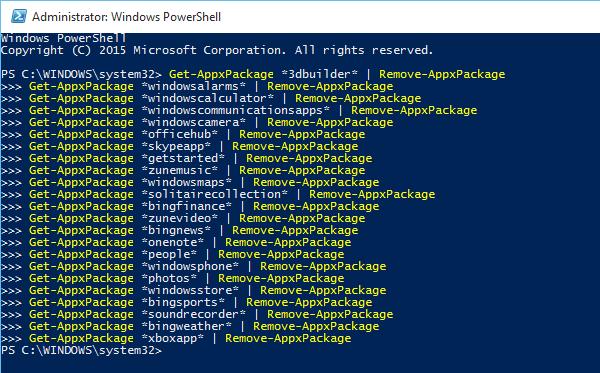 Διαγράψτε τις Εφαρμογές των Windows 10 με το PowerShell 05