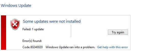 Σφάλμα 80240020 στην Αναβάθμιση Windows 10 01
