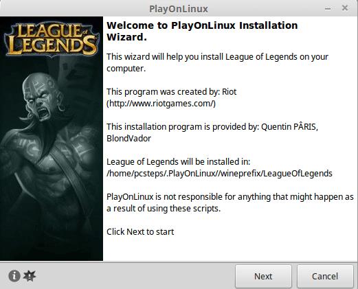 Εγκατάσταση League of Legends στο Linux Mint - Ubuntu 18