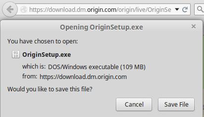 Εγκατάσταση Origin στο Linux Mint - Ubuntu με το Wine 02