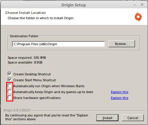 Εγκατάσταση Origin στο Linux Mint - Ubuntu με το Wine 07