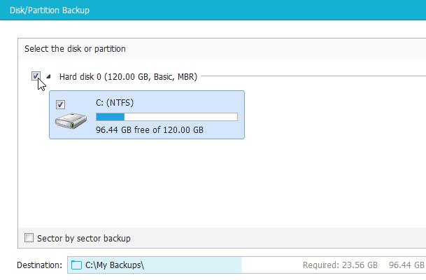 Αντίγραφο Ασφαλείας Windows με το EaseUS Todo Backup 09
