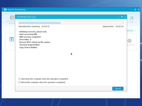 Αντίγραφο Ασφαλείας Windows με το EaseUS Todo Backup 32