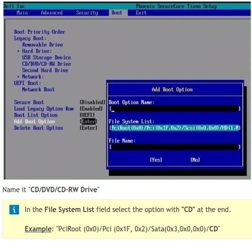Εκκίνηση Υπολογιστή boot από USB, DVD, ή CD, σε BIOS UEFI 22