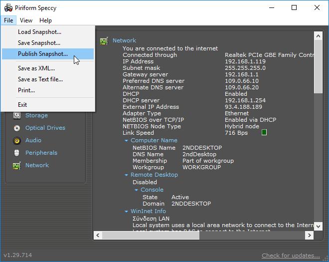 Πληροφορίες Συστήματος Υπολογιστή PC Υποστήματα Speccy 22