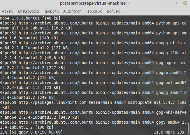 Windows με Linux τερματικό