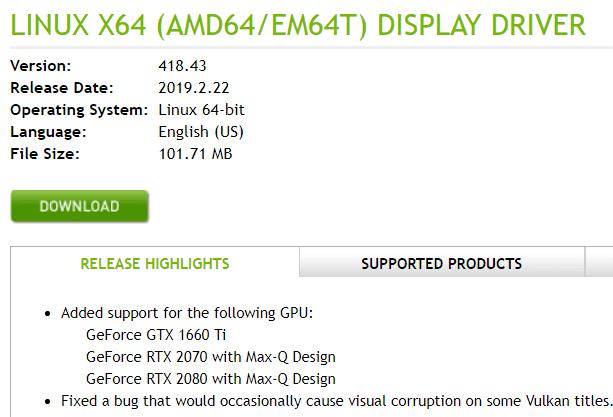 Windows με Linux Nvidia Driver