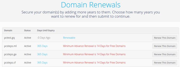 Πώς γίνεται η Κατοχύρωση Δωρεάν Domain Για Δοκιμαστική Σελίδα 14
