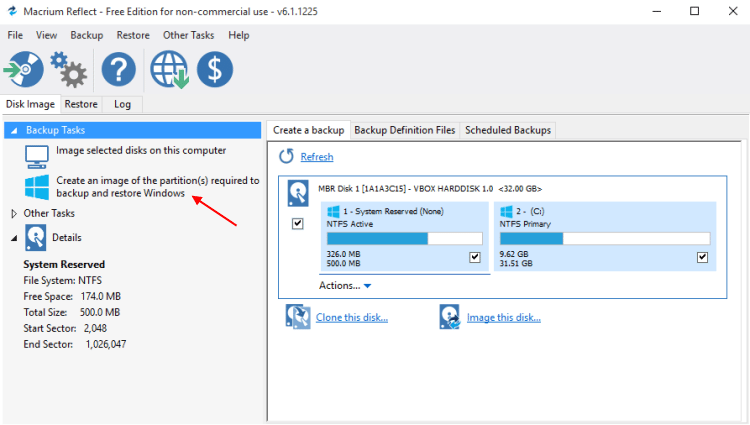 Αντίγραφα Ασφαλείας Windows με το Macrium Reflect free 15