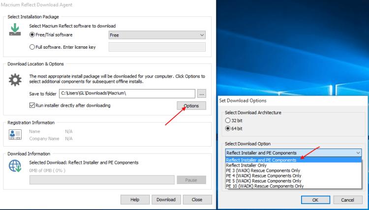 Αντίγραφα Ασφαλείας Windows με το Macrium Reflect free 4