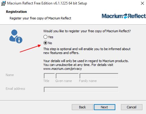 Αντίγραφα Ασφαλείας Windows με το Macrium Reflect free 5