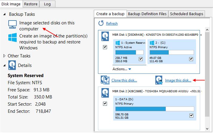 Αντίγραφα Ασφαλείας Windows με το Macrium Reflect free 7