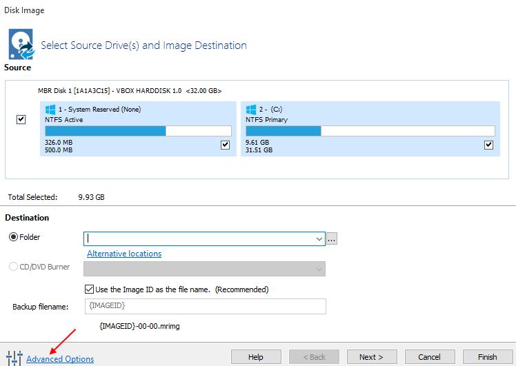 Αντίγραφα Ασφαλείας Windows με το Macrium Reflect free 9
