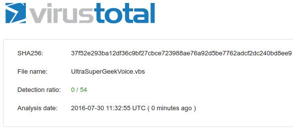 Αλλαγή εμφάνισης στα Windows VirusTotal