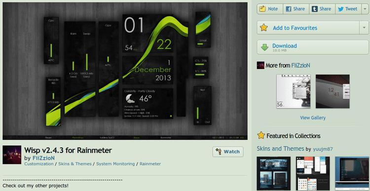 Πλήρης Αλλαγή της Επιφάνειας Εργασίας με το Rainmeter 01
