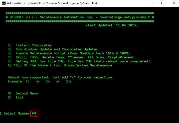 Συντήρηση των Windows με το WinBOLT 11