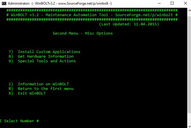 Συντήρηση των Windows με το WinBOLT 12