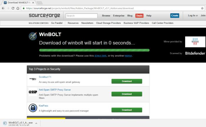 Συντήρηση των Windows με το WinBOLT 17