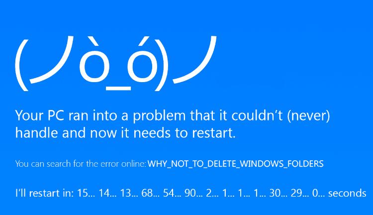 Απαραίτητοι Φάκελοι Συστήματος των Windows Που Δεν Πειράζω Ποτέ