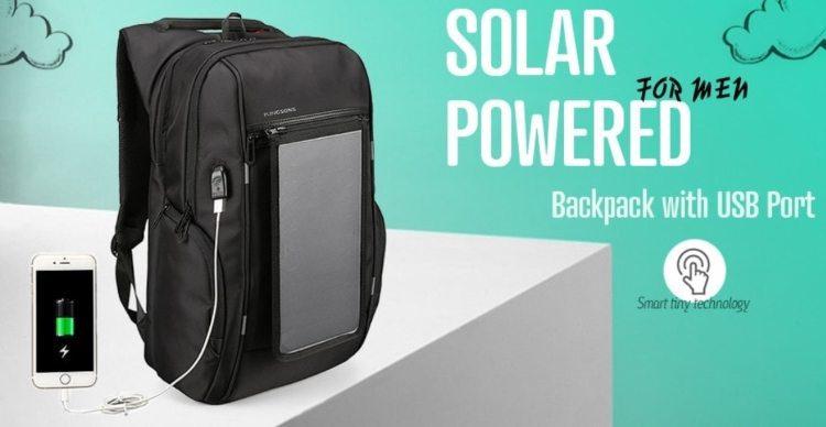 07840bd9061 Το ηλιακό πάνελ τοποθετείται στην πλάτη της τσάντας, και μέσω θύρας USB  μπορούμε να συνδέσουμε το κινητό μας. Η τοποθέτηση γίνεται με μαγνήτη, που  σημαίνει ...