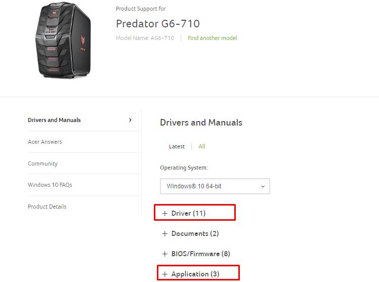 Acer Predator 19