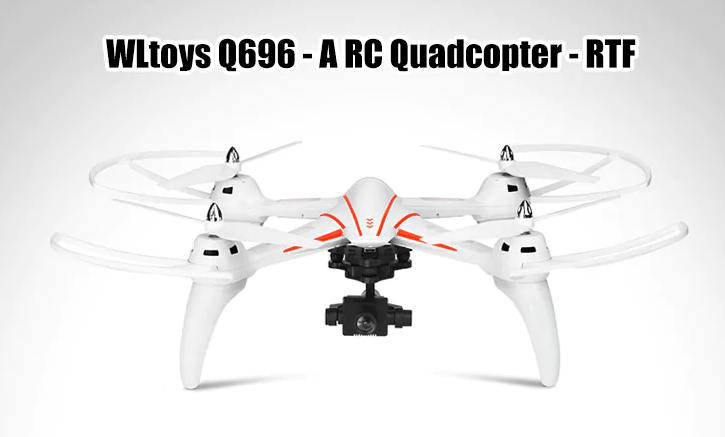 WLtoys Q696 Λευκό Quadcopter Με Σχεδιασμό Αεροσκάφους
