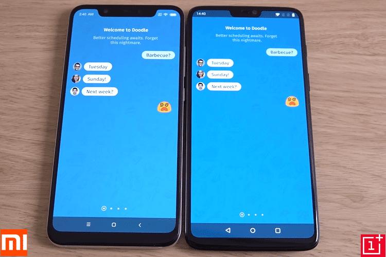OnePlus 6 vs Xiaomi Mi 8 29B